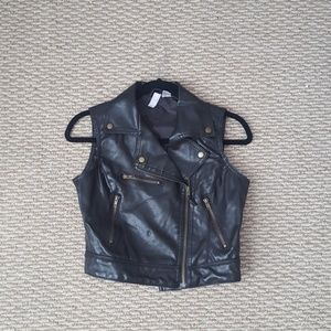 Max Rave Tops - Faux leather vest